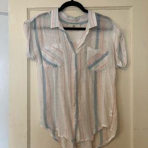 Linen Button-down Shirt (M)